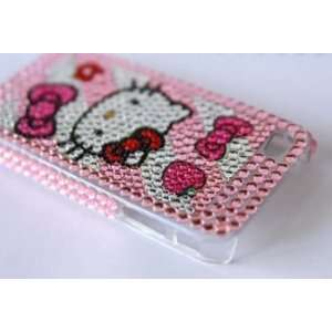 Hello kitty rhinestone iphone 3 g back case heart Cell Phones