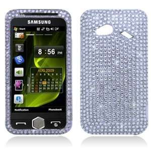 com HTC Incredible 4G / Fireball 6410 Case   Silver Rhinestone Bling