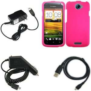 Brand HTC One S Combo Rubber Hot Pink Protective Case Faceplate Cover
