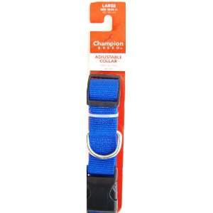 Champion Breed Adjustable Nylon Dog Collar, Large, Size 18