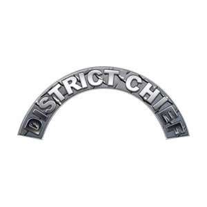 District Chief Diamond Plate Firefighter Fire Helmet Arcs