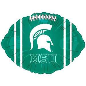 NCAA Michigan State Spartans Green 18 Foil Football