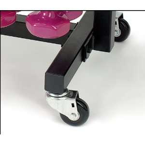 Aerobic Pac   optional casters for easy mobility.