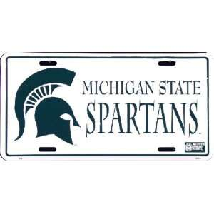 6x12) Michigan State Spartans NCAA Tin License Plate