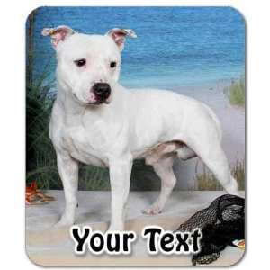 Staffordshire Bull Terrier Personalized Mouse Pad Electronics
