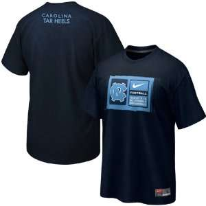Nike North Carolina Tar Heels (UNC) 2011 Team Issue T shirt   Navy