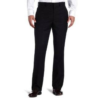 Kenneth Cole Reaction Mens Black Solid Suit Separate Pant