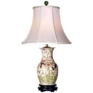 Flowers and Birds Porcelain Vase Table Lamp