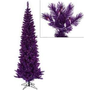 com 12 Pre Lit Purple Ashley Spruce Pencil Artificial Christmas Tree