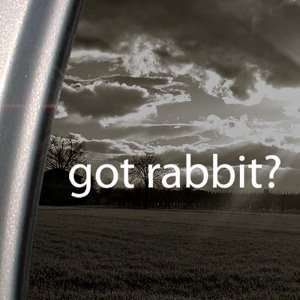 Got Rabbit? Decal Beagle Vw Car Truck Window Sticker