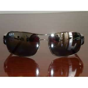 RAY BAN RB3426 GUNMETAL/ POLAR GREY GSM 004/82 61MM SUNGLASSES