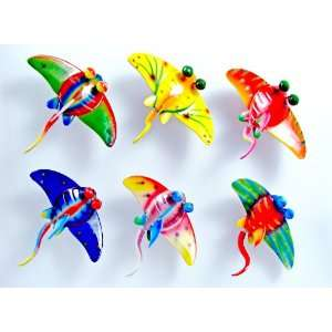 Sting Ray   Refrigerator Bobble Magnet (Set of 6) Kitchen