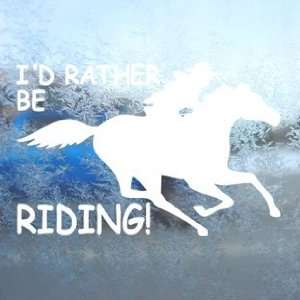 Fast White Decal Running Horse White Sticker Arts, Crafts & Sewing