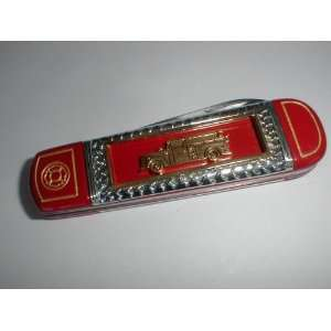 Franklin Mint Fire Truck Knife