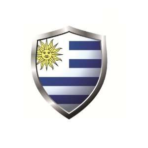 Uruguay country shield flag Sticker Vinyl Decal 5 x 4