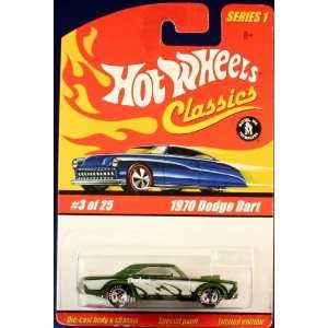 1970 DODGE DART (GREEN) 2004 Hot Wheels Classics 164 Scale SERIES 1