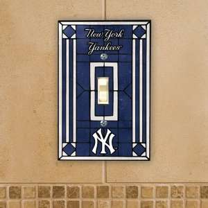 York Yankees Baseball Stained Glass Light Switch Plate Covers Home