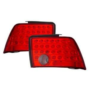 99 04 Ford Mustang Red/Smoke LED Tail Lights Automotive