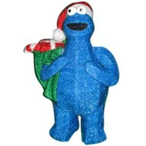 Sesame Street 32 3d Soft Tinsel Pre lit Cookie Monster