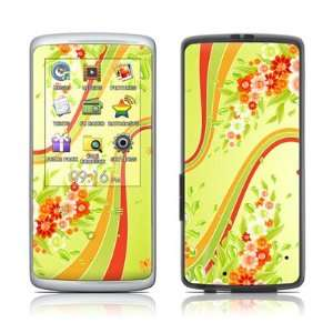 Flower Splash Design Protective Skin Decal Sticker for Samsung Q2 8GB
