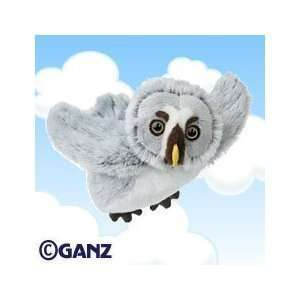Webkinz Plush Stuffed Animal Grey Owl with Webkinz Bookmark Sealed
