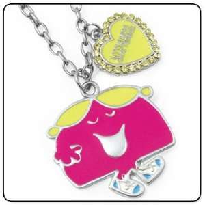 Little Miss Chatterbox Character Pink Charm Pendant & Necklace