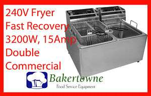 CECILWARE EL2X25 30lb Commercial Electric Deep Fryer