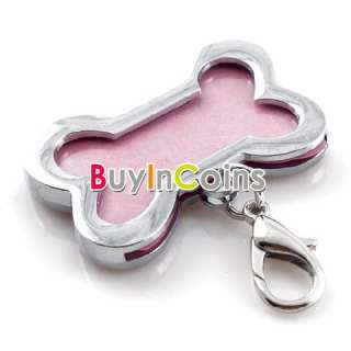 Stainless Steel Metal Bone Shaped Pet Dog Cat ID Tag Medium Name Tags